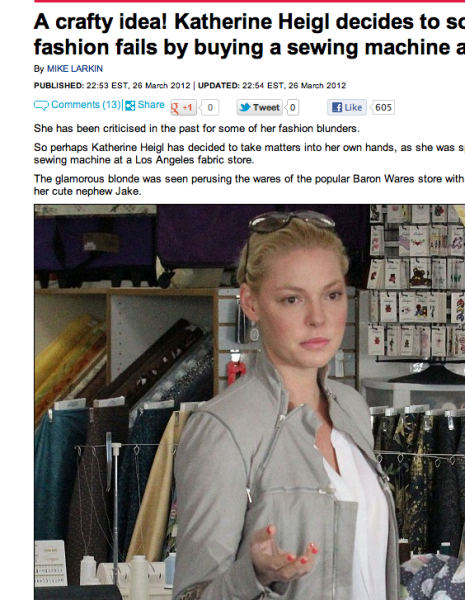 Katherine Heigl, Bernina